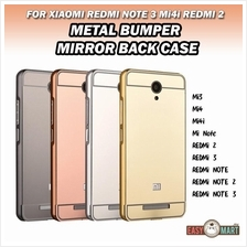 Xiaomi Redmi Note 3 Mi4i Redmi 2 Mirror Metal Bumper Case Casing