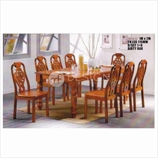 MF DESIGN LOLA 1+8 DINING SET ( RECTANGULAR TABLE )