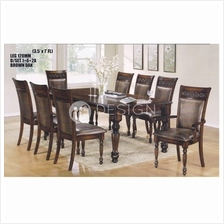 MF DESIGN SADIE 1+8 DINING SET ( RECTANGULAR TABLE )