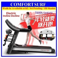 Luxury Electric Incline Decline Treadmill 4 Way Spring Damping System