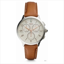 FOSSIL CH3014 Women's Abilene Chronograph Leather Strap Brown
