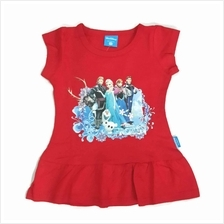 [GS] 3D Print Frozen Family Cotton Girls Top T Shirt