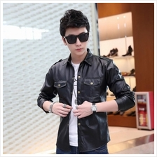 Korean Style Men's PU Leather Coat jacket