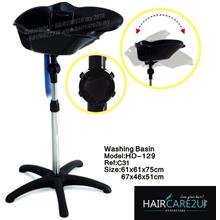 HD-129 Standalone Portable Fiber Hair Washing Basin Point