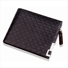 Men Leather Wallets With Coin Pocket Zipped