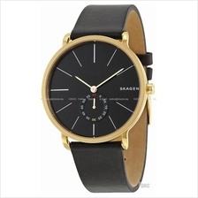 SKAGEN SKW6217 Men's Hagen Small-second Leather Strap Black