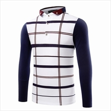 JF MFC81 Men´s Fashion Plaid Casual Polo T-Shirts - 2 Colors