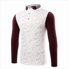JF MFC73 Men´s Casual Long Sleeve Polo T-Shirts - 2 Colors