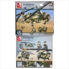 Kids Education Toys Army Helicopter Lego  RM100