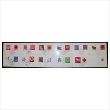 CHINA 1992-2003 2nd Series Zodiac stamp folder (22pcs stamps)