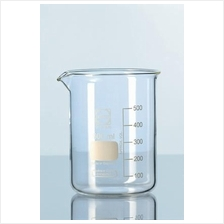 DURAN® Glass beaker, low form, with spout 400ml / Bikar