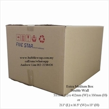 Extra Medium Size Carton Double Wall 5pcs