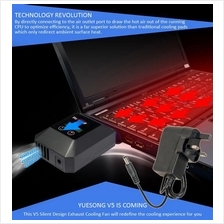 [Laptop Cooler] Yuesong V5 Suction Laptop Cooler LCD Cooling Fan/Radia