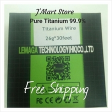 Titanium Wire 24g & 26g for vape atomizer coiling