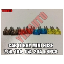 Car Lorry Mini Fuse 7.5A, 10A, 15A, 20A x 8pcs