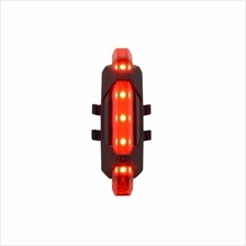 Rapid X USB Rechargeable Bicycle LED Rear Light / LED Tail Light - Red