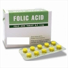 Folic Acid 5mg 100Tabs (Improve Red Blood Cell & Energy) RM40