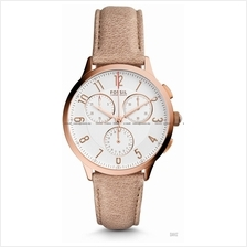FOSSIL CH3016 Women's Abilene Chronograph Leather Strap Sand
