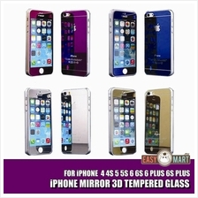 iPhone 4 4S 5 5S 6 6S Plus Full Mirror Tempered Glass Screen Protector