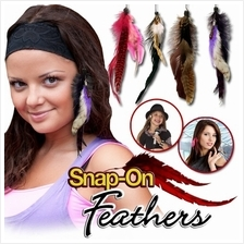 Snap-On Feathers Instant Feather Extensions