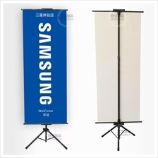 Tripod Banting Banner Poster Stand - Tripod Type Adjustable 3ft To 6ft