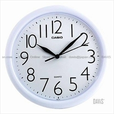 CASIO IQ-01-7 analogue round wall clock white
