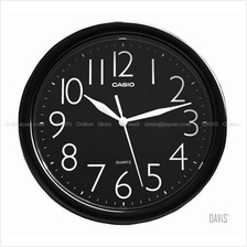 CASIO IQ-01-1 analogue round wall clock black