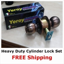 Heavy Duty Cylinder Door Lock set DIY replacement *100% Brass Core