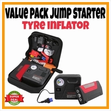 VALUE PACK Car Jump Jumper Starter 30000mah Tyre Inflator Package