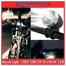 CREE 1200LM T6 USB DC LED HeadLight Bike Bicycle Light UltraBright