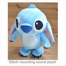 Disney Stitch Winnie The Pooh Beishidiqi recording sound plush doll