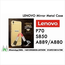 Lenovo S850 A889 A880 P70 Mirror Metal Bumper Case Cover