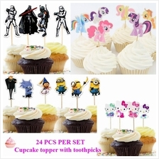 Star Wars/Minions/My Little Pony/Kitty Cake Topper Cupcake Topper