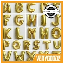 Deluxe Gold 16' Alphabet Word Foil Wedding Birthday Party Balloon A-Z