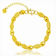 YOUNIQ Premium Barrel 24K Gold Plated Bracelet