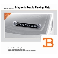 Magnetic Puzzle Car Parking Notification Phone Number Plate