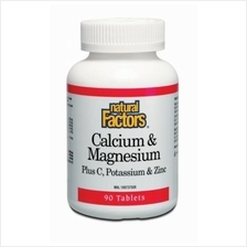 Natural Factors Calcium & Magnesium Plus C, Potassium & Zinc ( BONES )