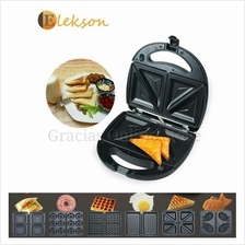 6 in 1 Waffle Maker, Sandwich Maker, Toaster for Bread and Donut