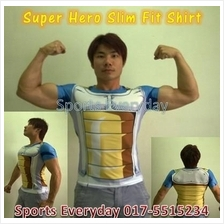 Slim Body Fit Compression Shirt baju - Dragonball Vegeta mutiara naga