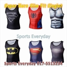Super Hero Slim Body Fit Compression shirt Singlet baju (high quality)