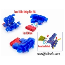 2x Quick Connect in-line standard ATS blade 18mm fuse holder no special tools