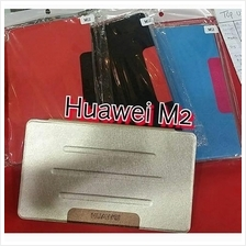 Huawei M2 flip cover option tempered glass