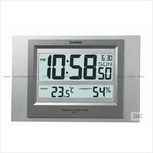 CASIO ID-16S-8 digital auto calendar thermo hygrometer wall clock grey