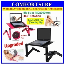 PROMO 360� Multi-Angle Adjustable & Portable Laptop Table + BIG Fan