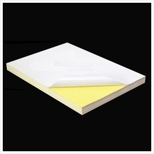 500pcs A4 Sticker Paper (Glossy/Mirrorkote) Self-Adhesive *Free Ship