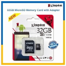 KINGSTON 32GB MicroSD Memory Card with Adapter - 80MB/s Class 10