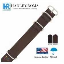 HADLEY ROMA One Piece Military Leather Watch Band Strap (ZULU / NATO)