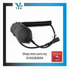 Dual PTT Handheld Mic 2pin For Walkie Talkie Dual PTT Button