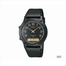 CASIO AW-49H-1BV Standard Casual Ana-Digi resin strap watch black