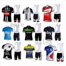 BIB Short Cycling Jersey Set Baju basikal Giant Cannondale SKY